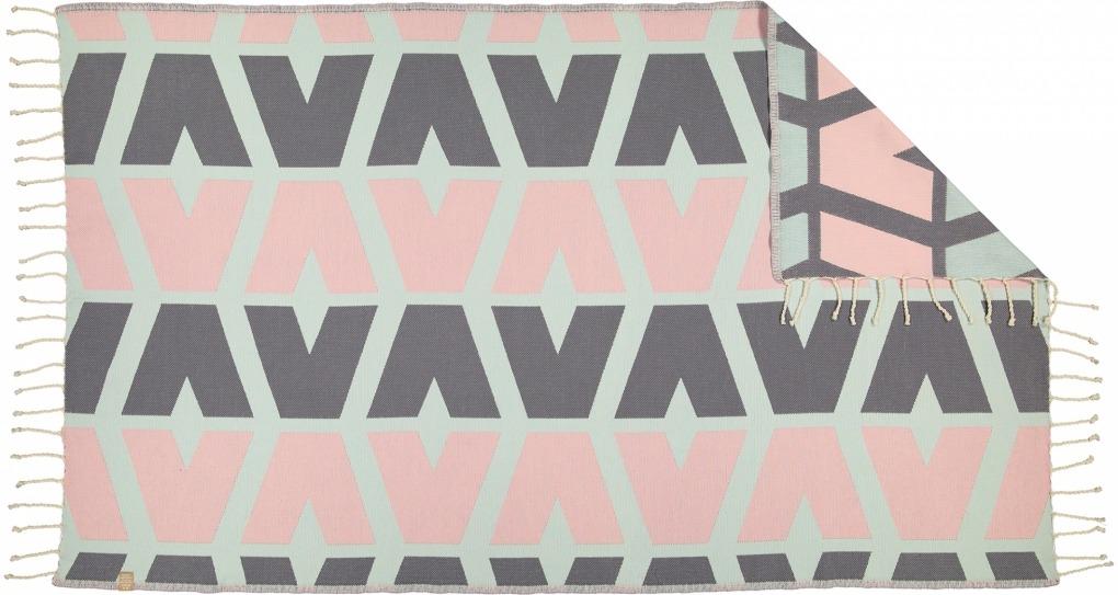 Futah_Beach_Towel_cova do vapor_ pink & grey 2_Back