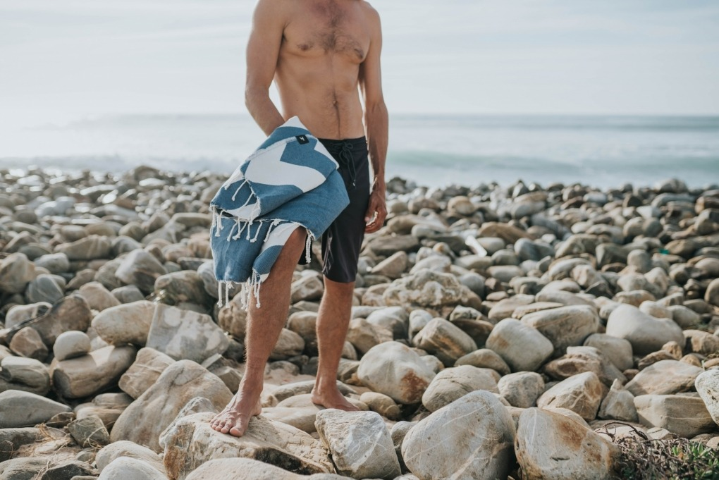 futah beach towels single Malcata Single Towel Blue Lookbook 1 DSC00018