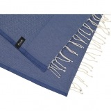 futah beach towels single Ericeira Single Towel Indigo Blue Detail_min
