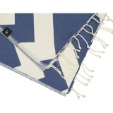 futah beach towels single Malcata Single Towel Blue Detail_1_min