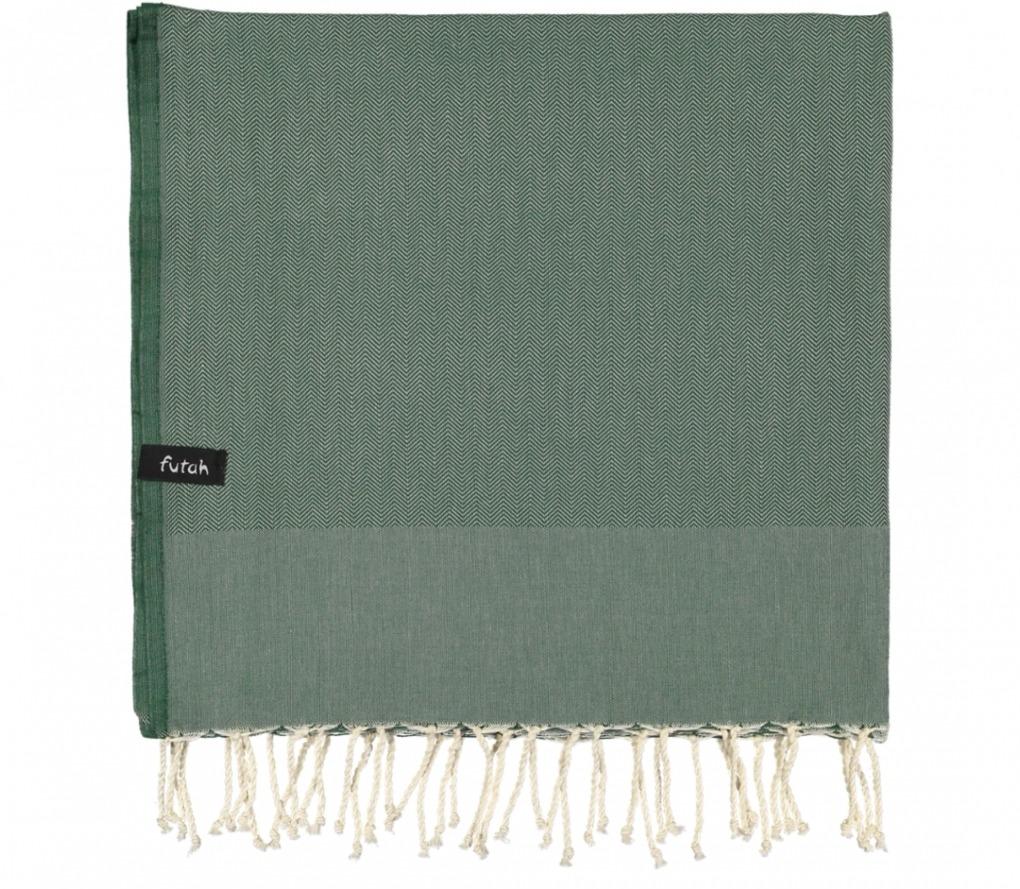 futah beach towels single Ericeira Single Towel Verdant Green Folded
