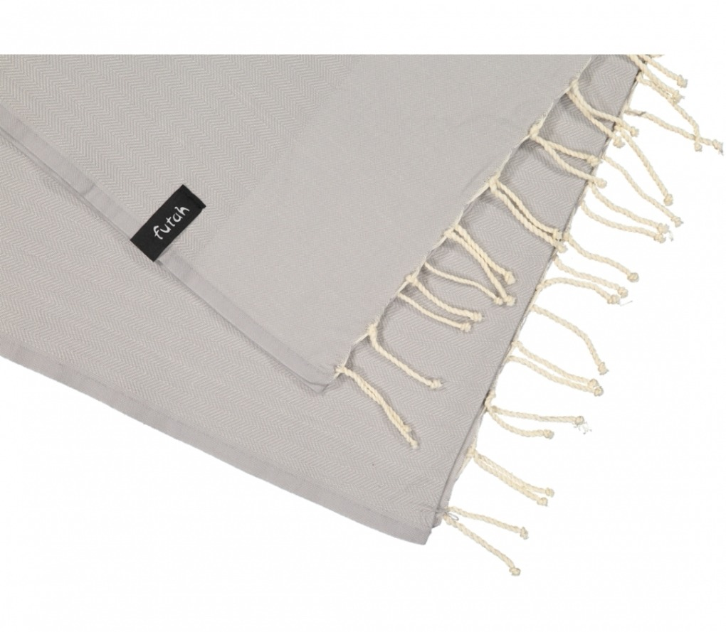 futah beach towels single Ericeira Single Towel Opal Grey Detail