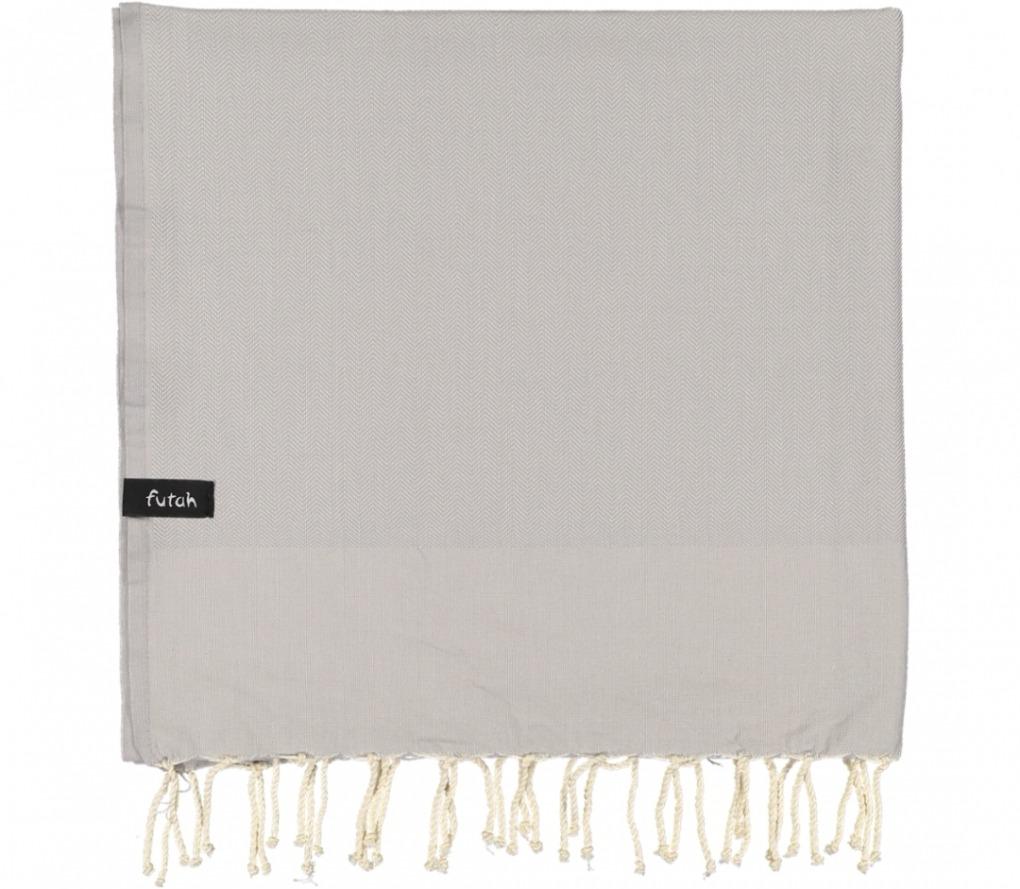 futah beach towels single Ericeira Single Towel Opal Grey Folded