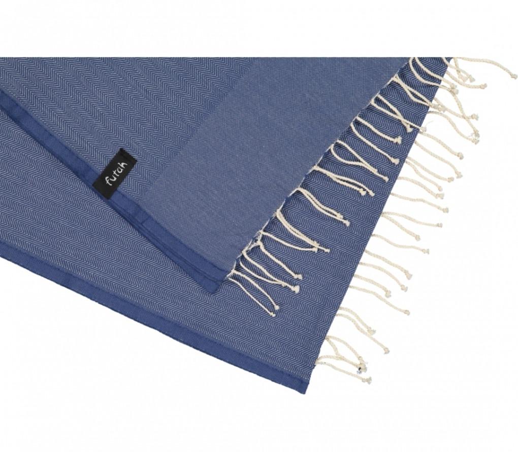 futah beach towels single Ericeira Single Towel Indigo Blue Detail