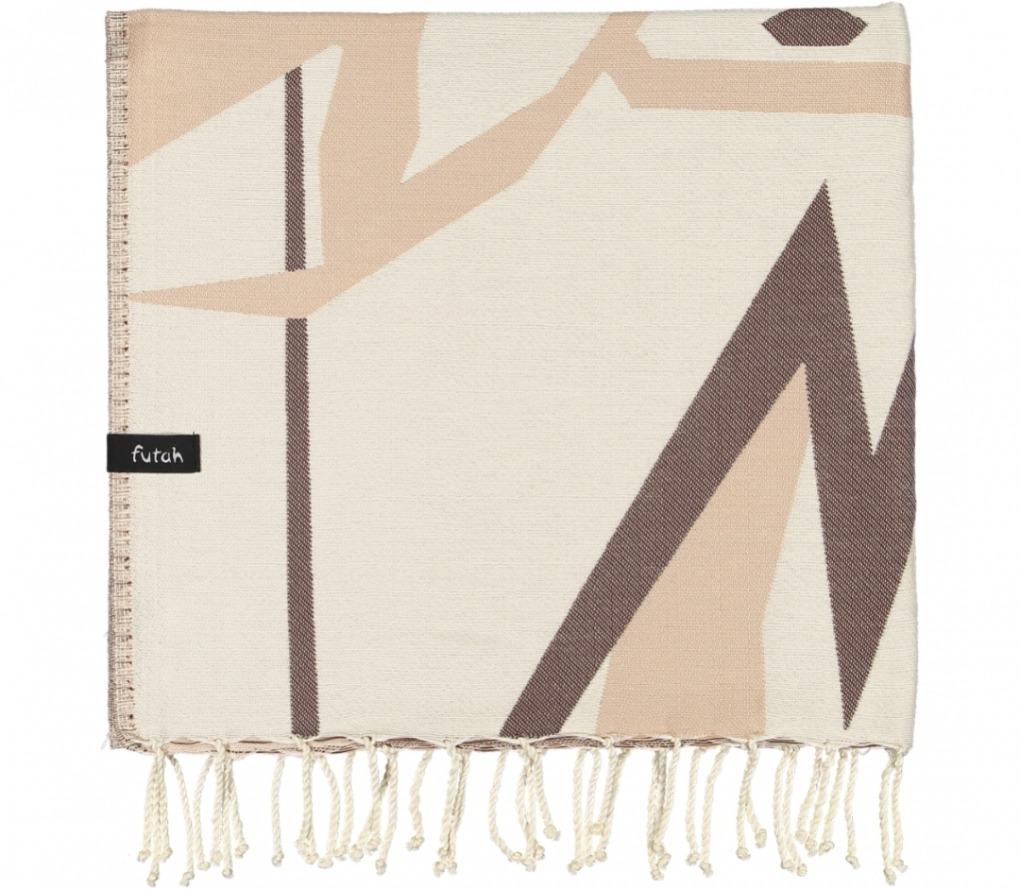 futah beach towels single Lynx Single Towel Chestnut