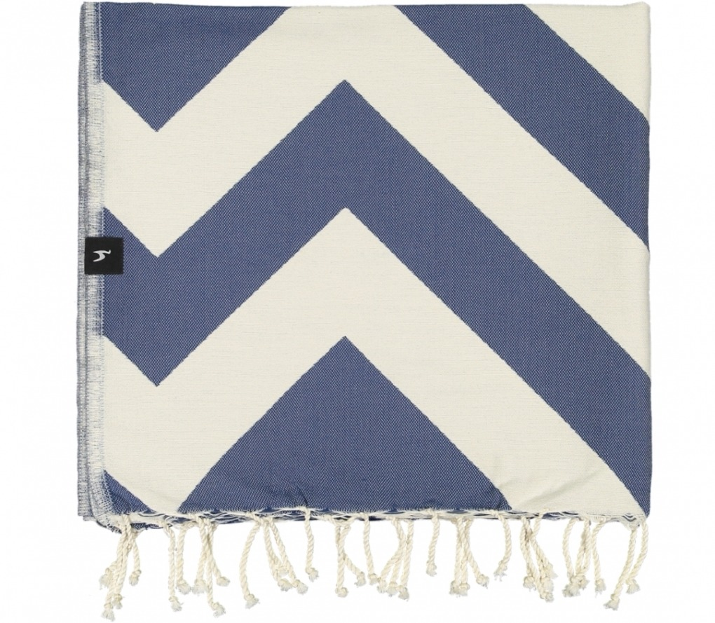 futah beach towels single Malcata Single Towel Blue Folded_1