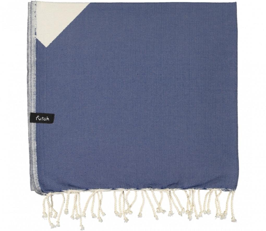 futah beach towels single Malcata Single Towel Blue Folded