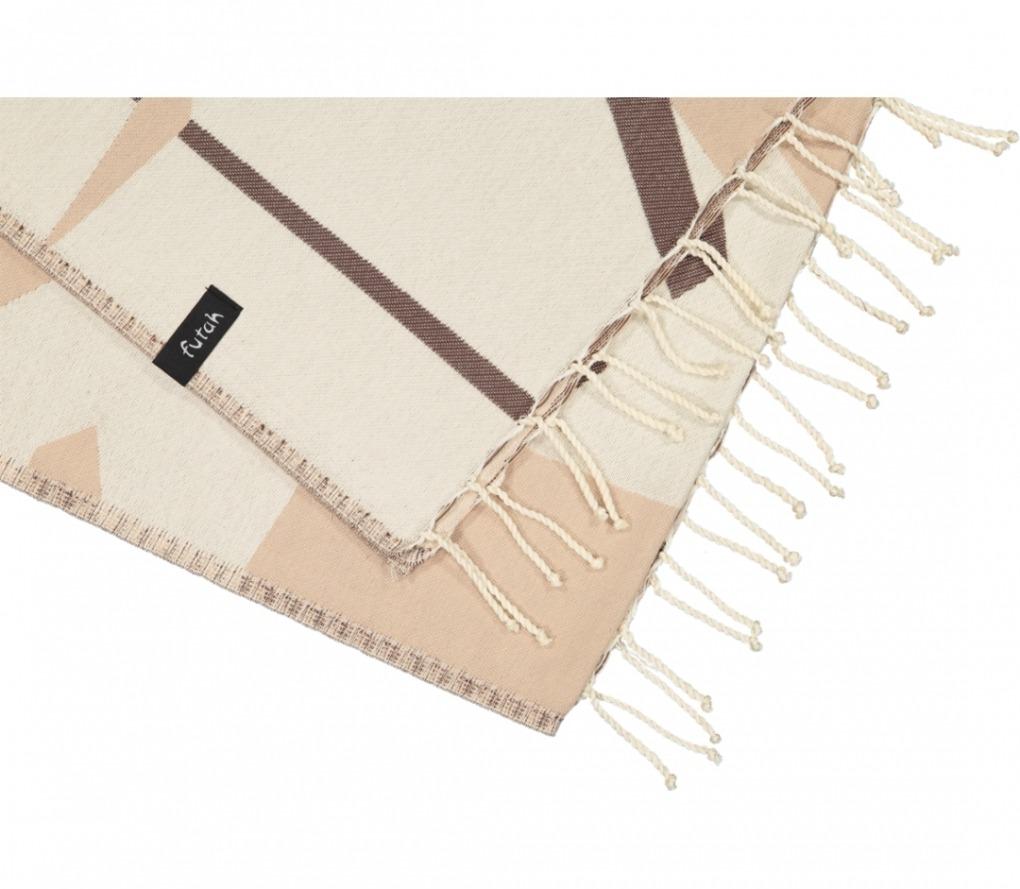 futah beach towels single Guadiana Single Towel Chestnut Detail (2)
