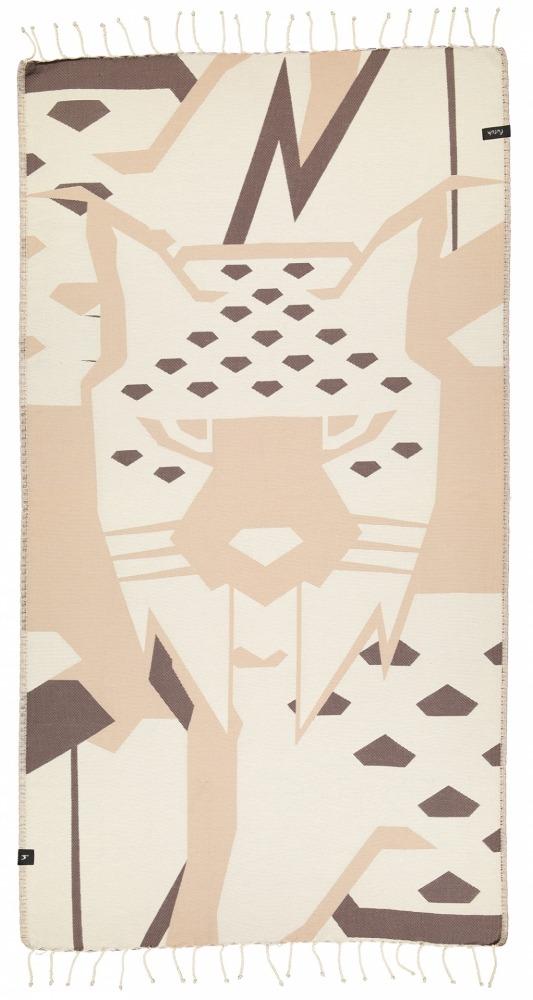 futah beach towels single Lynx Single Towel Chestnut Front_2