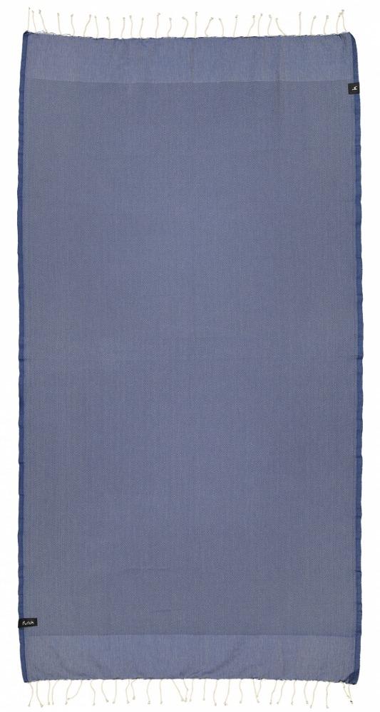futah beach towels single Ericeira Single Towel Indigo Blue Front