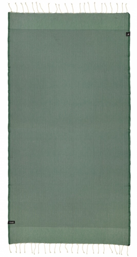 futah beach towels single Ericeira Single Towel Verdant Green Front