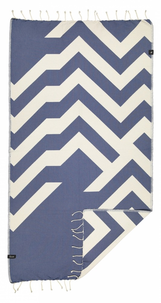 futah beach towels single Malcata Single Towel Blue Front