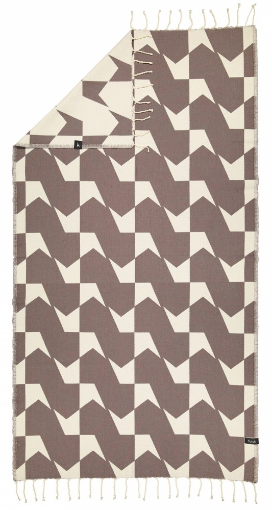 futah beach towels single Guadiana Single Towel Chestnut Back