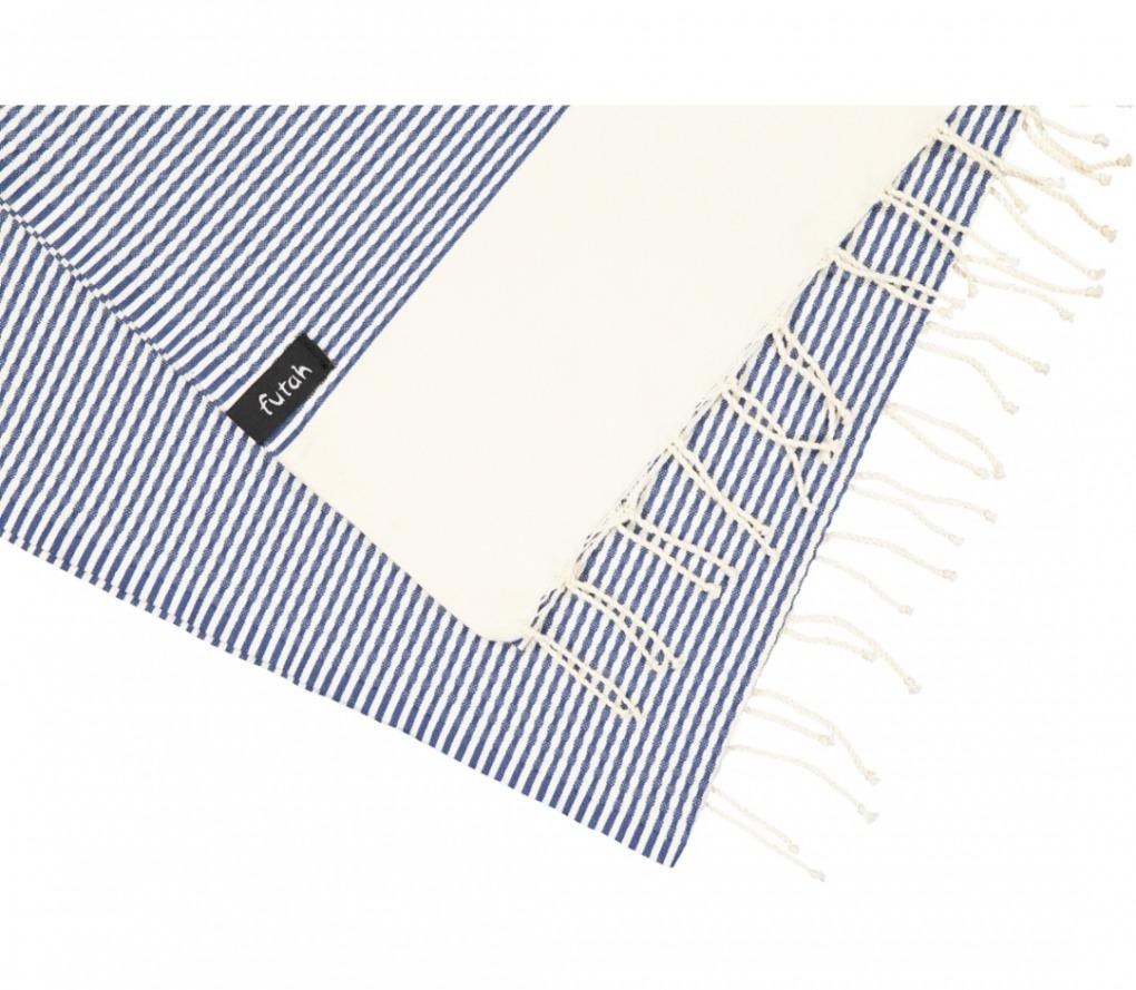 futah beach towels single Nazaré Single Towel Indigo Blue Detail_5600373061810_3